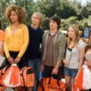 (l to r) Margo Harshman, Hayley Marie Norman, Eric Christian Olsen, Nicholas D'Agosto, Sarah Roemer and Danneel Harris star in Screen Gems' comedy FIRED UP. Photo credit: Suzanne Tenner. © 2009 Screen Gems, Inc.  All rights reserved.