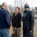 (Left to right.) Stars Alan Arkin and Amy Adams with director Christine Jeffs on the set of Overture Films' Sunshine Cleaning. © 2009 Big Beach, LLC. All Rights Reserved. Distributed by Overture Films. Photo Credit: Lacey Terrell - 454 x 304