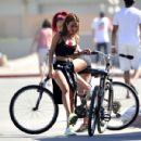 Karrueche Tran Bike Riding In A Shorts In Venice