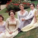 The Bennet sisters; Julia Sawalha as Lydia, Jennifer Ehle as Elizabeth, Susannah Harker as Jane, Lucy Briers as Mary and Polly Maberly as Kitty in Pride and Prejudice (1995 - 454 x 301