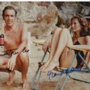 Maud Adams and Christopher Lee