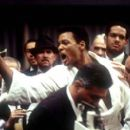 Will Smith as Ali with David Haines (second from right) as Rudy Clay/Rahaman Ali and Ron Silver (far right) as Angelo Dundee in Columbia's Ali - 2001