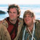 Matthew Perry and Chris Farley in Warner Brothers' Almost Heroes - 1998