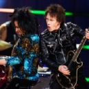 Steve Stevens and Billy Morrison perform onstage during the first ever iHeart80s Party at The Forum on February 20, 2016 in Inglewood, California.