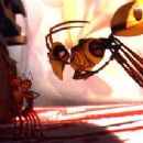 Bala and Z are confronted by a snooty wasp named Chip (Dan Aykroyd) in Antz
