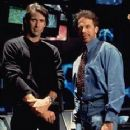 Director Michael Bay and producer Jerry Bruckheimer of Touchstone's Armageddon - 1998 - 232 x 350