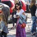 Jenna Dewan at Farmer's Market in Los Angeles