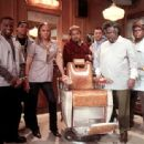 Sean Patrick Thomas, Michael Ealy, Eve, Ice Cube, Troy Garity, Cedric The Entertainer and Leonard Earl Howze in MGM's Barbershop - 2002