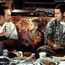 Rob Schneider, Cole or Dylan Sprouse and Adam Sandler in Big Daddy