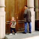 Adam Sandler and his adopted Cole and Dylan Sprouse relieve themselves in Big Daddy