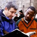 Director Gil Junger and Martin Lawrence (who plays Jamal, a fast-talking con-man who finds himself in 14th century England) on the set of 20th Century Fox's Black Knight - 2001