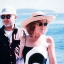 Director Bruno Barreto and Amy Irving on the set of Sony Pictures Classics' Bossa Nova - 2000