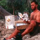 Chuck (Tom Hanks) is a problem-solver that finds a novel use for the contents of a FedEx box that washes ashore in 20th Century Fox's Cast Away - 2000