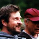 Lars von Trier (director) and Robby Muller (director of photography) on the set of Fine Line's Dancer In The Dark - 2000