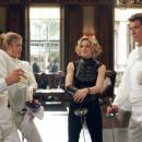 Toby Stephens as Graves, Rosamund Pike as Miranda Frost, Madonna as Verity and Pierce Brosnan as Bond in MGM's Die Another Day - 2002