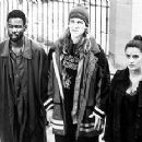 Chris Rock, Jason Mewes and Salma Hayek in Lions Gate's Dogma - 11/99