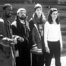 Chris Rock, Kevin Smith, Jason Mewes and Linda Fiorentino in Lions Gate's Dogma - 11/99
