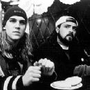 Jason Mewes and Kevin Smith in Lions Gate's Dogma - 11/99
