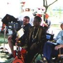 Director Maya Angelou on the set of Down In The Delta
