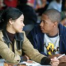 Zoe Saldana and Nick Cannon in 20th Century Fox's Drumline - 2002