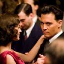 Marion Cotillard as Billie Frechette and Johnny Depp as John Dillinger in Universal Pictures' Public Enemies.
