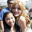Bella Thorne  attended an interview at the Grove in Los Angeles, California on July 10, 2012 for the Extra - 407 x 594