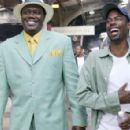 Director, producer, co-writer and star Chris Rock (right) shares a laugh with star Bernie Mac (left)