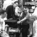 Director of Photography Seamus McGarvey and director Stephen Frears on the set of Touchstone's High Fidelity - 2000