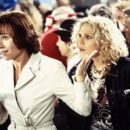 Minnie Driver and Mary McCormack on the set of Touchstone's High Heels and Low Lifes - 2001