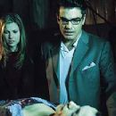 Ali Larter and Peter Gallagher view Famke Janssen in Warner Brothers' House On Haunted Hill - 10/99