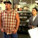 Larry (Larry the Cable Guy) and Amy Butlin (Iris Bahr) in Larry The Cable Guy:  Health Inspector. Photo credit: Jon Barron Farmer