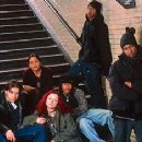 Clifton Collins Jr., Rosario Dawson, Sara Gilbert, Robert Richard, Fredro Starr and Usher Raymond in Light It Up - 11/99