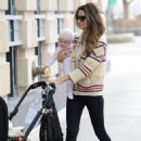 Lily Aldridge: took her daughter for a walk in New York City
