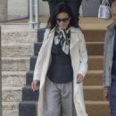 Lucy Liu – Leaving her hotel in Rome