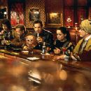 Kel Mitchell, Paul Reubens, William H. Macy, Ben Stiller, Janeane Garofalo and Hank Azaria celebrate their first victory in Universal's Mystery Men - 1999 - 350 x 231