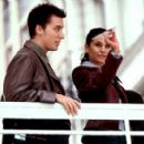 Lance Bass and Emmanuelle Chriqui in Miramax's On The Line - 2001