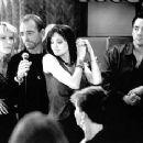 Cate Blanchett, Billy Bob Thornton, Angelina Jolie and John Cusack in Pushing Tin