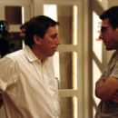 Executive producer Ivan Reitman confers with director Todd Phillips on the set of Dreamworks' comedy Road Trip - 2000