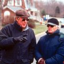 Director William Friedkin and producer Richard D. Zanuck on the set of Paramount's Rules Of Engagement - 2000