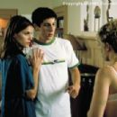 When Judith (Amanda Peet, left) unexpectedly pops back into Darren's (Jason Biggs) life, his relationship with Sandy (Amanda Detmer) gets more complicated in Columbia's Saving Silverman - 2001