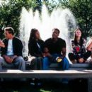 Shannon Elizabeth, Lochlyn Munro, Regina Hall, Shawn Wayans, Anna Faris and Jon Abrahams in Dimension's horror comedy movie Scary Movie - 2000