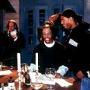Chris Elliott, Marlon Wayans and Shawn Wayans on the set of Dimension's Scary Movie 2 - 2001