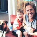 Angus T. Jones (James) and David Arquette (Gordon) in 2001 comedy  See Spot Run, released by Warner Brothers