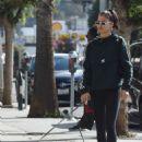 Shanina Shaik in Tights – Walking her dog Choppa in Los Angeles