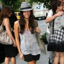 Jenna Dewan outside her NYC hotel on August 3, 2009