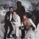 Harrison Ford, Carrie Fisher, Peter Mayhew and Mark Hamill in