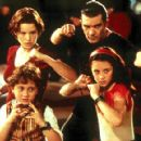 Clockwise from top: Carla Gugino, Antonio Banderas, Alexa Vega and Daryl Sabara in Dimension's Spy Kids - 2001