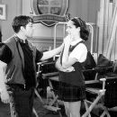Director Bruce McCulloch with Molly Shannon on the set of Superstar - 10/99