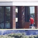 Selena Gomez – Spends time with her puppy and Justin Bieber at a rental house in LA