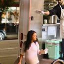 Christina Milian at her Beignet Box lunch truck in Studio City